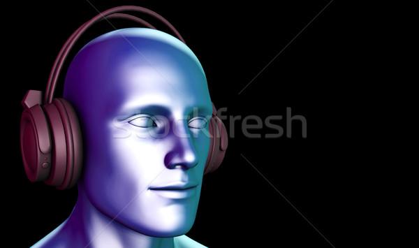 Zen Music Man With Headphone Stock photo © kentoh