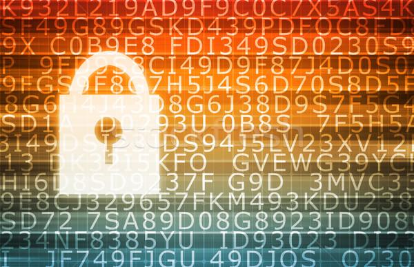 Veri merkezi güvenli sunucular bilgisayar soyut Sunucu Stok fotoğraf © kentoh