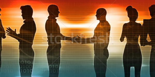 Gente de negocios reunión ideas negocios fondo Foto stock © kentoh