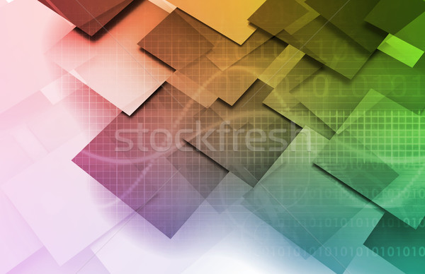 Abstract Arrows Technology Background  Stock photo © kentoh