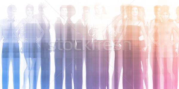 Personeel vergadering opleiding business kantoor man Stockfoto © kentoh