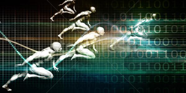 Informatika internet háttér háló ipar tudomány Stock fotó © kentoh
