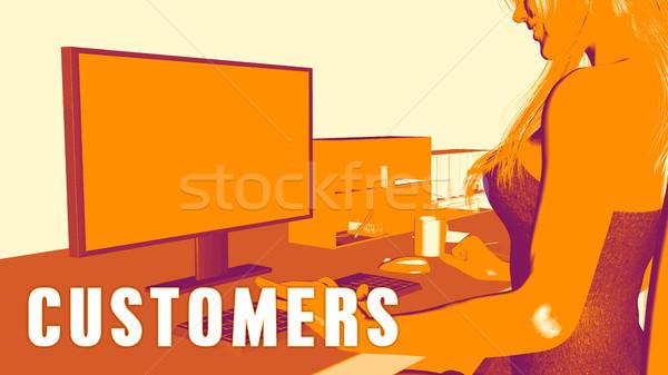 Customers Concept Course Stock photo © kentoh