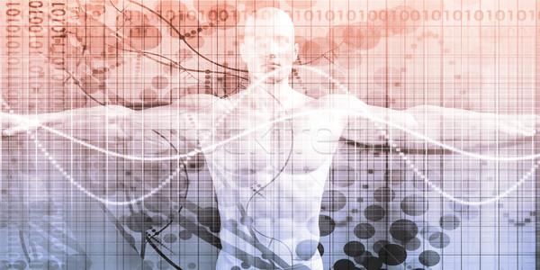 Zaawansowany technologii nauki streszczenie tle przyszłości Zdjęcia stock © kentoh