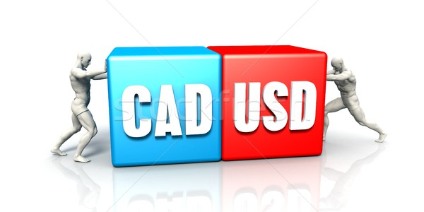 CAD USD Currency Pair Stock photo © kentoh
