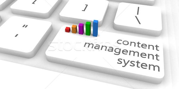 Inhoud beheer cms toetsenbord bar industrie Stockfoto © kentoh
