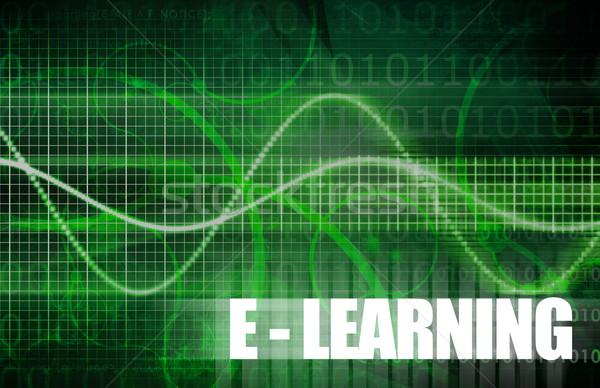 Online oktatás elektronikus tanul online oktatás háló Stock fotó © kentoh