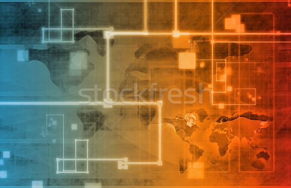 Stock photo: Business Analysis Network