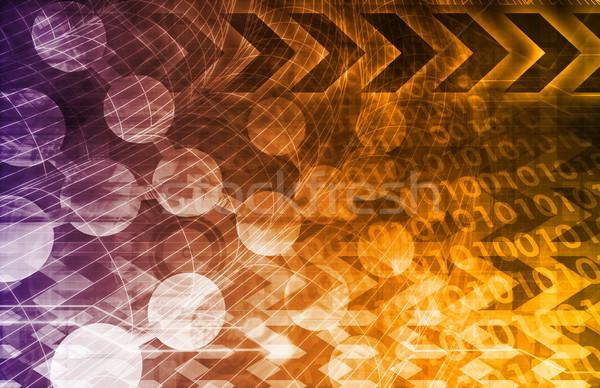 Cząsteczki jądrowej badań nauki Zdjęcia stock © kentoh