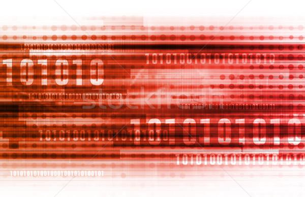 Technológia futurisztikus absztrakt hálózat információ tiszta Stock fotó © kentoh
