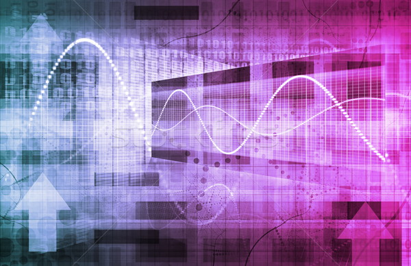 Digitális megoldások vállalati üzlet művészet technológia Stock fotó © kentoh
