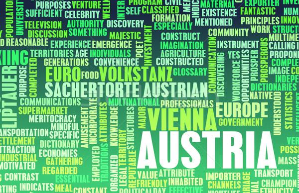 Avusturya ülke soyut sanat iş gıda Stok fotoğraf © kentoh
