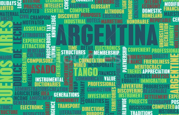 Argentinien Land abstrakten Kunst Business Essen Stock foto © kentoh