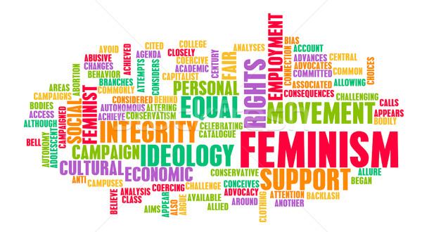 феминизм идеология равенство справедливой лечение занятость Сток-фото © kentoh