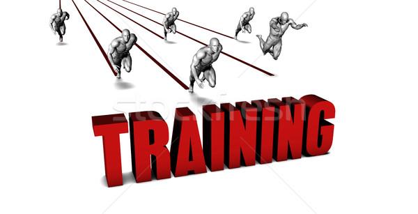 Jobb képzés üzleti csapat versenyzés üzletember fut Stock fotó © kentoh