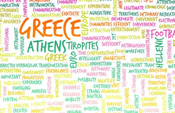 ギリシャ 国 抽象的な 芸術 ビジネス サッカー ストックフォト © kentoh