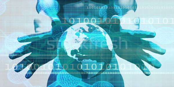 Schaalbaar echt tijd gegevens abstract technologie Stockfoto © kentoh