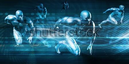 Futurisztikus absztrakt digitális technológia üzlet internet háttér Stock fotó © kentoh