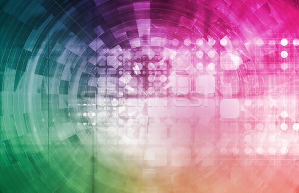 Internet kapcsolat adat biztonságos hálózat űr Stock fotó © kentoh