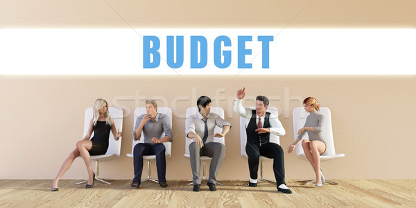 бизнеса бюджет группа заседание человека фон Сток-фото © kentoh