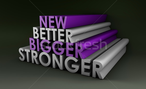 Stock photo: Bigger Better and Faster