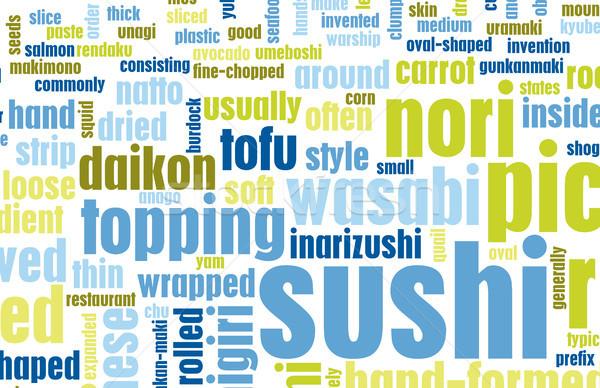 Sushi Menu Stock photo © kentoh