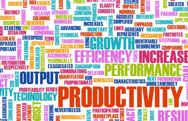 Produtividade negócio escritório arte equipe corporativo Foto stock © kentoh