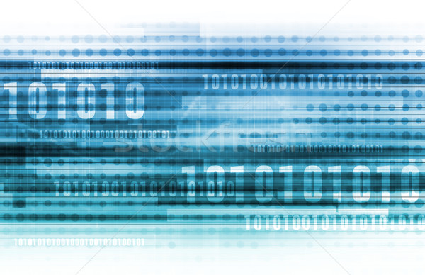 Binary Data Background Stock photo © kentoh