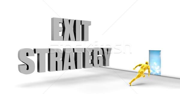 çıkmak strateji hızlı izlemek doğrudan hızlı Stok fotoğraf © kentoh