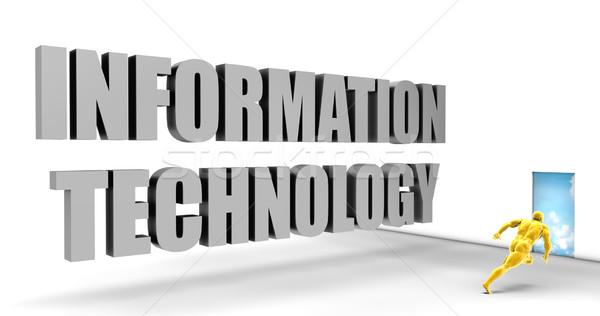 Bilgi teknolojisi hızlı izlemek doğrudan hızlı yol Stok fotoğraf © kentoh