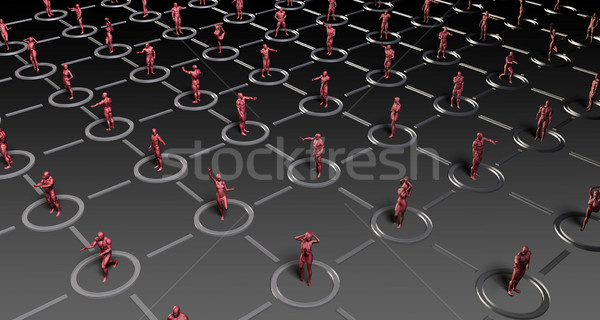 Social Networking People Stock photo © kentoh
