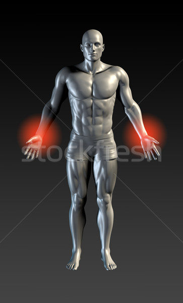 Csukló sérülés piros izzik egészség sportok Stock fotó © kentoh