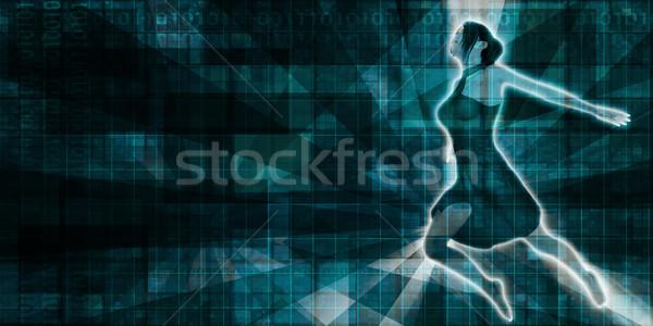Mooie dame dansen vrouw meisje gelukkig Stockfoto © kentoh