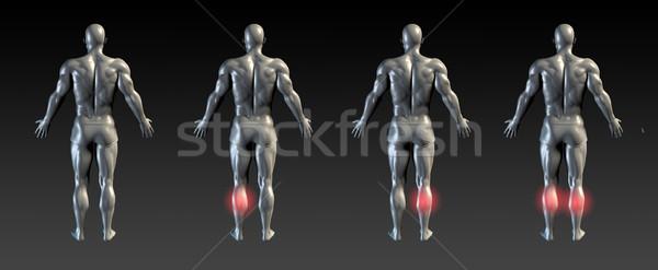 Ranire roşu stralucire sănătate sport spital Imagine de stoc © kentoh