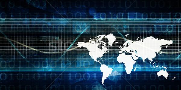 Global business prezentacji sztuki pracy świat technologii Zdjęcia stock © kentoh