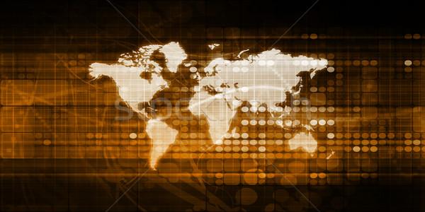 Globale accesso servizio tecnologia soluzioni terra Foto d'archivio © kentoh