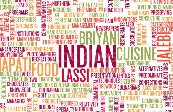 Comida indiana menu cozinha local pratos comida Foto stock © kentoh