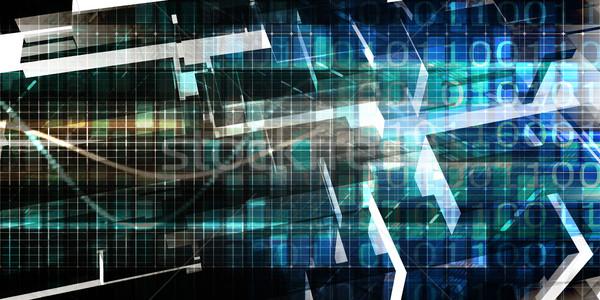 Tecnologia digitale rete sicurezza griglia sfondo wallpaper Foto d'archivio © kentoh