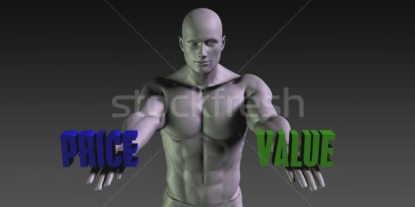 Cena wartość wyboru inny wiara człowiek Zdjęcia stock © kentoh