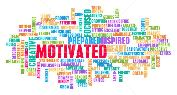 Motivated Word Cloud Concept Stock photo © kentoh