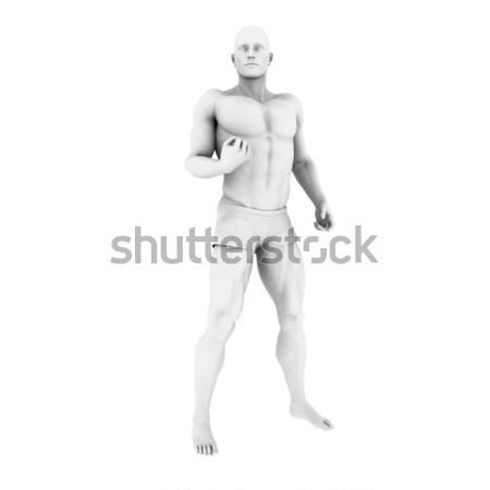 Superhero создают человека 3d визуализации иллюстрация бизнеса Сток-фото © kentoh