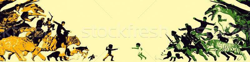 Kaçış gerçeklik küçük çocuklar yukarı Stok fotoğraf © kentoh