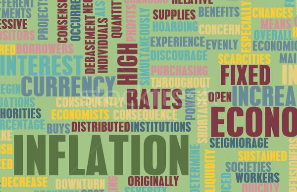 Inflation économique problème gouvernement affaires Finance Photo stock © kentoh