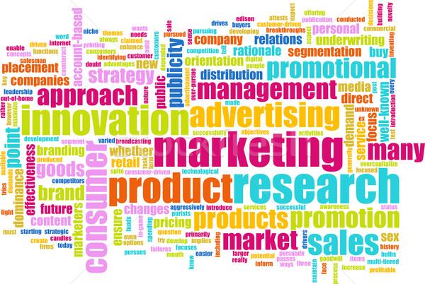 Rynku badań plan produktu działalności tle Zdjęcia stock © kentoh