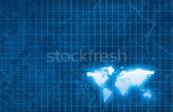 Technologia informacyjna globalny sztuki tle sieci korporacyjnych Zdjęcia stock © kentoh