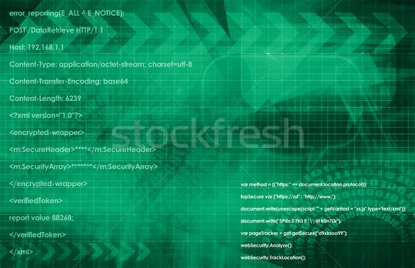 Multimédia technológia globális háló adat művészet Stock fotó © kentoh