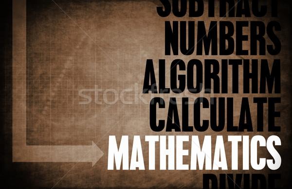 Matematika számtan textúra háttér oktatás retro Stock fotó © kentoh