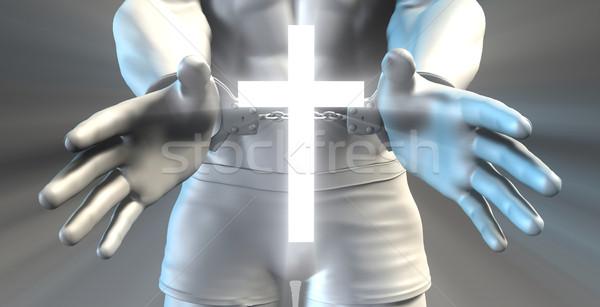 Carcere carcere religione cristianesimo uomo Gesù Foto d'archivio © kentoh