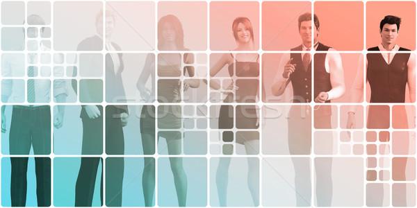 Carriere werk business succes kunst Stockfoto © kentoh