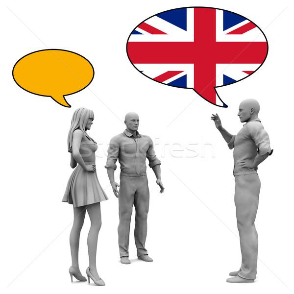 Apprendre anglais culture anglaise langue affaires femmes Photo stock © kentoh